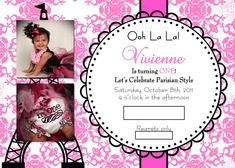 Parisian, French, Paris, Pink, Pink and black Birthday Party Ideas | Photo 1 of 36 | Catch My Party