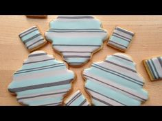 ▶ How To Make Striped Cookies Using the Royal Icing Wet-on-Wet Technique - YouTube