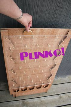 Laser Cut Plinko Game: 6 Steps (with Pictures) Diy Yard Games, Diy Games, Backyard Games, Outdoor Games, Lawn Games, Plinko Game, Plinko Board, Deco Harry Potter, Handmade Wall Clocks