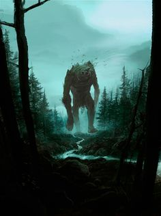But already the oldest living things had arisen: in the seas the great weeds, and on earth the shadow of great trees, and in the valleys of the night-clad hills there were dark creatures old and strong...and the slumbering woods were haunted by monsters and shapes of dread.