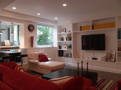 Modern Living Room Wall Units Ideas Storage Inspiration – Decorating Ideas - Home Decor Ideas and Tips Built In Tv Cabinet, Tv Built In, Built Ins, Living Room Wall Units, Living Room Shelves, Living Rooms, Living Spaces, Living Area, Built In Entertainment Center