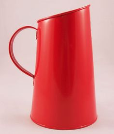Steady Sticks Retro Kitchen enamel metal Red Alfresco Jug, great gift idea
