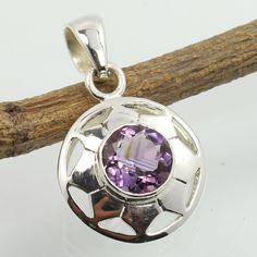 Delicate Pendant Genuine Purple AMETHYST Gemstone 925 Sterling Silver ! Top Gift #Unbranded #Pendant Amethyst Pendant, Amethyst Gemstone, Purple Amethyst, Delicate, Pendants, Pendant Necklace, Gemstones, Sterling Silver, Gift