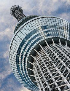 Tokyo sky tree - 1 by Bernard Languillier, via Flickr