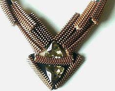 Die Sterne Jugendstil-Reißverschluss-Halskette