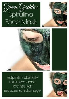 Goddess Spirulina Face Mask Green Goddess Spirulina Face Mask - This mask is amazing and such a fun color! My skin felt amazing afterwards!Green Goddess Spirulina Face Mask - This mask is amazing and such a fun color! My skin felt amazing afterwards! Beauty Care, Diy Beauty, Beauty Skin, Health And Beauty, Beauty Ideas, The Face, Face And Body, Face Skin, Diy Cosmetic