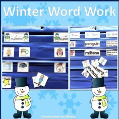 Winter Word Work Activities for January in your elementary classroom!  #elementary #guidedreading #wordwork #winterwriting #conversationsinliteracy #kindergarten #first grade #secondgrade #thirdgrade kindergarten, 1st grade, 2nd grade, 3rd grade