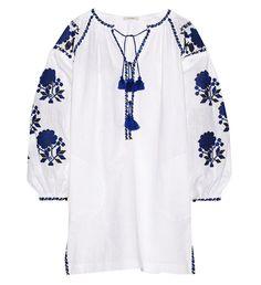 Vita Kin robe en lin brodée