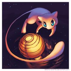 Mew (Pokemon) by Delano-Laramie Pokemon Mew, Mew And Mewtwo, Pikachu, Pokemon Original, Midnight Sun, Pokemon Pictures, Kawaii, Cartoon, Fan Art