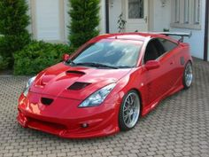 Hate red cars, but for this I'd make an exception. Getting a full wrap anyway ... #celica