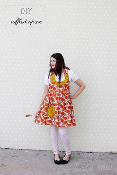 ruffle apron pattern - see kate sew