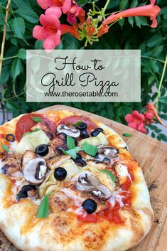 How to grill pizza on a pizza stone!