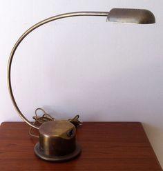 Liseuse / Lampe de bureau CVL Laiton doré XXe s.