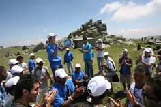 Refugees and asylum-seekers who took part in a two hour hike to the top of Vitosha Mountain celebrate World Refugee Day by singing and playing instruments. © UNHCR/B. Refugees And Asylum Seekers, World Refugee Day, Special Needs, Singing, Instruments, This Is Us, June, Mountain, Celebrities