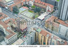 skyline urban city high view of Milan  - stock photo BUY IT FROM $1 ON SHUTTERSTOCK
