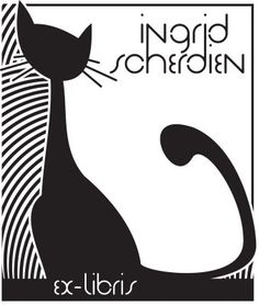 Ex libris - cat - Ingrid Scherdien