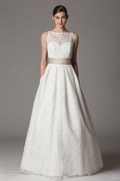 aria bridal gown 2013 sleeveless illusion lace bodice 272fb also love the back, will pin!