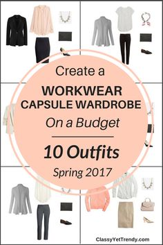 Create a Workwear capsule wardrobe on a budget, perfect for wearing to the office! This post is a preview of the E-Book, The Workwear Capsule Wardrobe: Spring 2017 Collection. It reveals a few pieces in the capsule wardrobe and shows how you can mix and match those pieces to create several outfits! I'm excited to share with you…