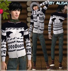 Jumper outerwear (male) for the Sims 2 (TS2)