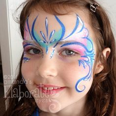 fairy face and body paint | Fairy princess face painting | Amanda's Elaborate Eyes Face & Body ...
