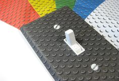 Lego Bedroom Decor Light Switch Cover Boys Nursery Decoration Geekery Building Blocks 1241...boy room