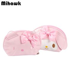 6b1360a1a5d4 Mini Cute Hello Kitty Cosmetic Bags Girl s Travel Makeup Tools Organizer  Case Beautician Wash Suitcase Accessories