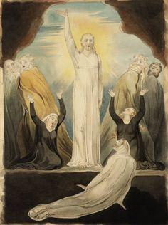 After William Blake 'The Raising of Lazarus', date not known William Blake Art, Raising Of Lazarus, The Modern Prometheus, La Madone, Esoteric Art, Prophetic Art, Biblical Art, A Level Art, Art For Art Sake
