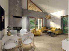Projekt domu Maja II 108,43 m2 - koszt budowy 187 tys. zł - EXTRADOM House Roof Design, Modern House Design, Modern Bungalow House, Simple House, House Floor Plans, My House, New Homes, Layout, Architecture