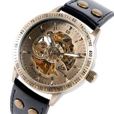 Skeleton Mechanical Watch Men Automatic Business Luxury Military Wristwatch Casual Male Clock Hours