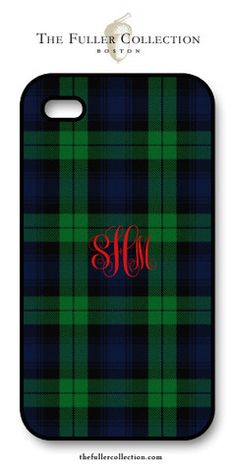 Monogram Tartan - Red Script ipone Cover – The Fuller Collection