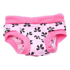 Adjustable Bowknot Pattern Sanitary Pant for Dogs (S-XL)