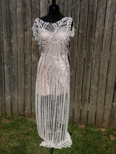 Lace crochet wedding dress sample reduced price  by CrochetByMel, $399.99