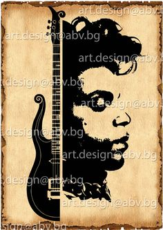 Vector Prince and guitar, AI, eps, pdf, png, svg, jpg Image Graphic Digital Download Artwork, discount coupons