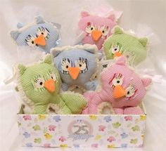 Stephan Baby Shabby Owl Shaggy Sherpa Rattle & Multi-Dot Fleece Blankie Gift Set #StephanBaby