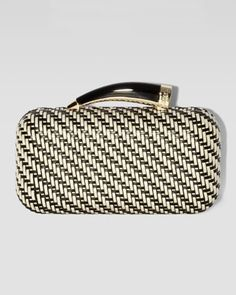 Vince Camuto | Woven Horn Clutch Bag, White - CUSP