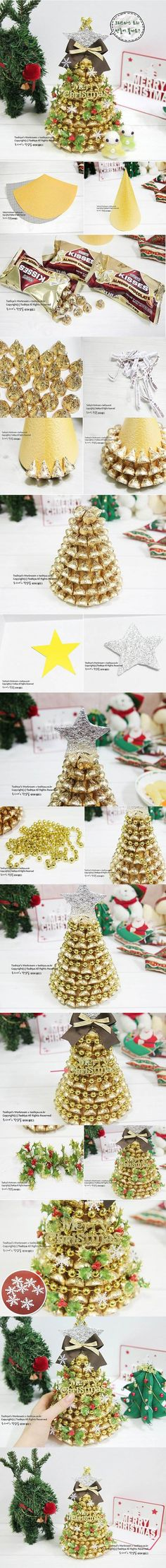 DIY Chocolate Christmas Tree   iCreativeIdeas.com Like Us on Facebook ==> https://www.facebook.com/icreativeideas