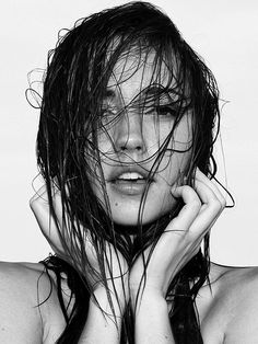 Wet Hair. She needs a #quikstyle paddle brush. @Terry Song Cammack Hair  @Influenster