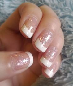 OPI Alpine Snow w/ OPI Teenage Dreams   French manicure