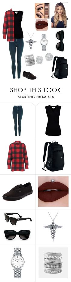 """""""Grey's"""" by daniellef65 ❤ liked on Polyvore featuring Topshop, Velvet by Graham & Spencer, Woolrich, Vans, Balenciaga, Allurez, Longines, Avenue, Anne Sisteron and fashionable"""