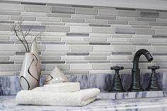 Beautiful Kitchen Backsplash: Peel N' Stick, Peel and Stick, Guaranteed to Stick! Peel N Stick Backsplash, Kitchen Backsplash, White Vinyl, Beautiful Kitchens, Mosaic Tiles, Contemporary, Modern, Kitchen Remodel, Blinds