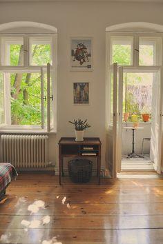 european apartment, sunny day