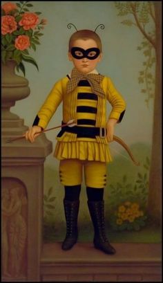 Colette Calascione_Bee Boy Colette Calascione was born in San Francisco in 1971 and received her B. from the San Francisco Art Institute. She resides in New York. Mardi Gras, Image Halloween, Halloween Art, I Love Bees, Bee Skep, San Francisco Art, Photo Vintage, Vintage Bee, Colette
