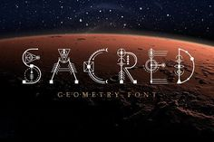 Sacred Geometry Font - unique decorative font based on the sacred symbols