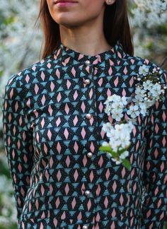 GET THE LOOK: Gorgeous geometric patterns on this silky summer dress by Moscow designer, Kseniya Kutuzova | http://www.liftuplift.com/marketplace/clothing/ornament-shift-dress/?utm_content=buffer5d512&utm_medium=social&utm_source=pinterest.com&utm_campaign=buffer