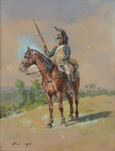 French; 23rd Dragoons on vedette by Meissonier. This is possibly the best version of this scene, which Messonier returned to many times.