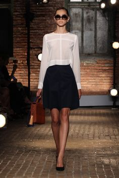 Sort of makes me wish I still worked in an office :) Yigal Azrouël RTW Spring 2012 - So simple and chic. Perfect for the office.
