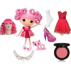 """silly hair jewel sparkles"" by flyingtoaster on Polyvore"