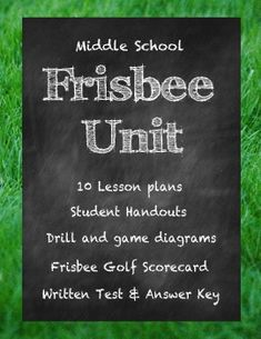 Middle School Physical Education Frisbee Golf and Ultimate Frisbee Unit from Made by Summer Kelley is contains all you need for a whole unit of frisbee fun!Designed for maximum student practice.Frisbee Sports promote physical activity outside of PE, even for students who dont enjoy mainstream sports.
