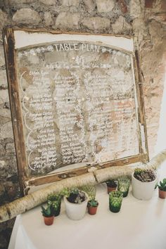 Glass Mirror Table Plan & Rustic Decor - Ali Paul Photography | Boho Wedding at Farbridge Farm | Wild Flowers & Greenery | Laure de Sagazan Allen Bridal Gown from The Mews Nottinghill
