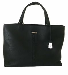 Cole Haan Black Leather Shoulder Satchel Bag for sale online Black Leather Briefcase, Small Leather Wallet, Wallets For Women Leather, Leather Satchel Handbags, Satchel Purse, Purse Wallet, Leather Crossbody, Nylon Tote Bags, Small Tote Bags